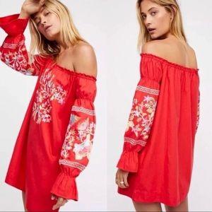 Free People Fleur Du Jour off shoulder dress large